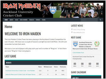 Iron Maiden Cricket Clun - Auckland University