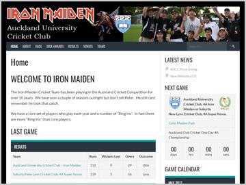 Iron Maiden Cricket Clun - Auckland University